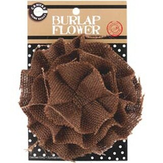 Chocolate - Burlap Flower 4.5""