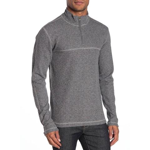 Vintage 1946 Mens Drop Needle 1/4 Zip Pullover Sweatshirt Medium Black