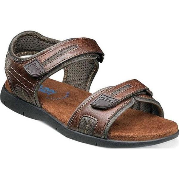 f0995679fd37 Nunn Bush Men  x27 s Rio Grande Two Strap River Sandal Tan Faux Leather