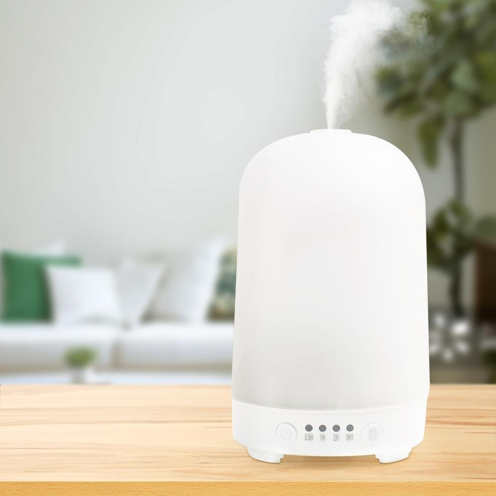 100ml Aromatherapy Essential Oil Diffuser, Textured Ultrasonic Cool Mist Humidifier, AUTO Shut off, 7 Color Changing LED Lights