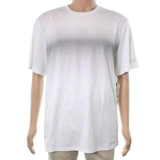 Greg Norman NEW White Men Large L Half-Tone Geo Graphic Performance Shirt