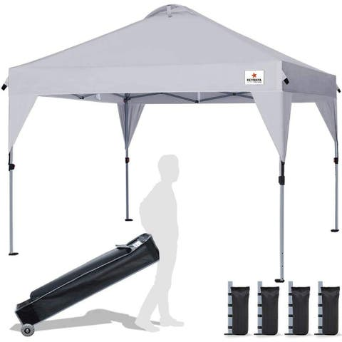 Instant 10x10 Easy Pop up Canopy Beach Canopy - 10x10ft