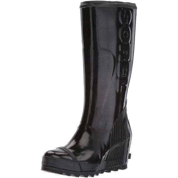 364eeae4221 Shop SOREL Women's Joan Rain Wedge Tall Gloss Boot - Free Shipping Today -  Overstock - 25442792