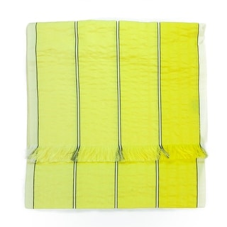 Valentino ST52X1 ST062W Yellow Raw Silk Scarf