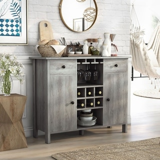 Link to Furniture of America Madrid Contemporary Multi-storage Buffet Similar Items in Dining Room & Bar Furniture