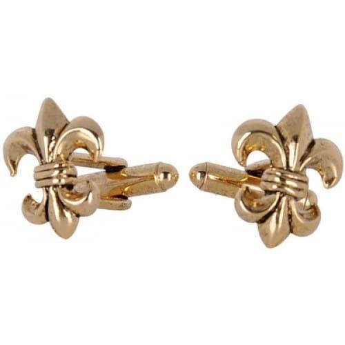 Antique Gold Fleur Di Lis French Cufflinks