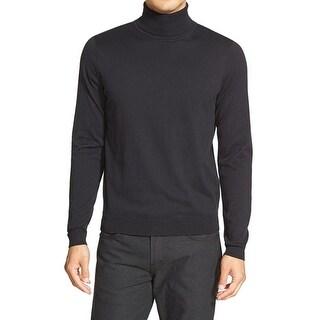 Calibrate NEW Black Mens Size Medium M Long Sleeve Turtleneck Sweater