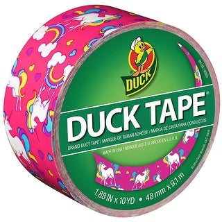 "Duck 284567 Printed Duct Tape, Unicorn, 1.88"" x 10 Yards"
