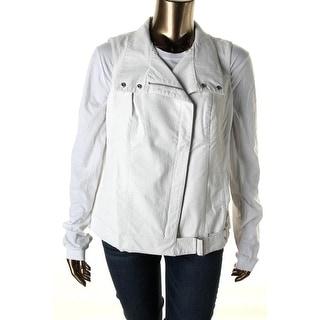 Modamix Womens Plus Faux Leather Textured Vest - 14W