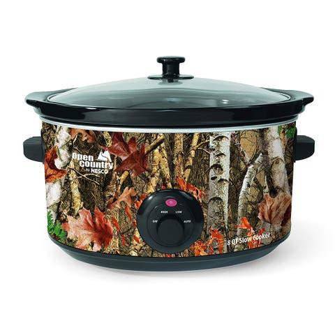 Open Country by Nesco SC-8017 Slow Cooker, 8 quart, Woodland Birch Camo