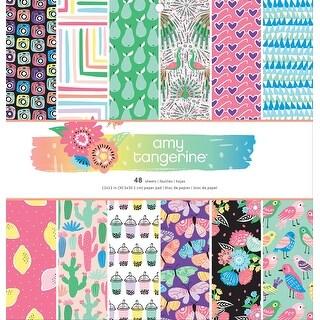 "American Crafts Single-Sided Paper Pad 12""X12"" 48/Pkg-Amy Tan Sunshine & Good Times/24 Designs"