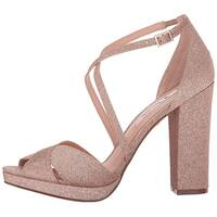 Nina Womens Marylyn-YM Peep Toe Special Occasion Ankle Strap Sandals