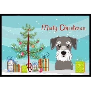 Carolines Treasures BB1578JMAT Christmas Tree & Schnauzer Indoor or Outdoor Mat 24 x 36
