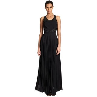 Sachin + Babi NoirEmbellished Pleated Open Back Maxi Evening Gown Dress - 4