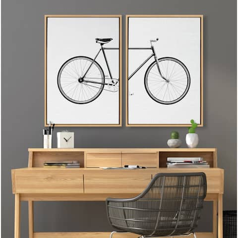 Kate and Laurel Sylvie Bicycle Canvas by Simon Te of Tai Prints