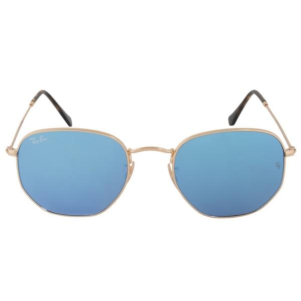 5876d1d21fb Shop Ray-Ban Hexagonal Flat Lenses Sunglasses RB3548NF 001 9O 54 ...