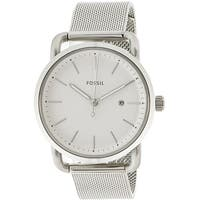 Fossil Women's The Commuter  Silver Stainless-Steel Quartz Fashion Watch