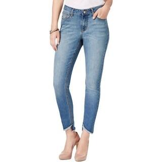 Earl Jean Womens Skinny Jeans Denim Whisker Wash
