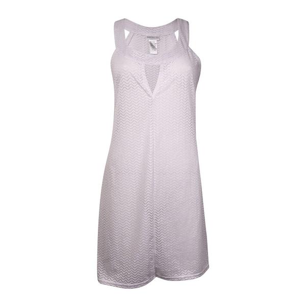 Dotti Women's Halter Keyhole Swimsuit Coverup - White