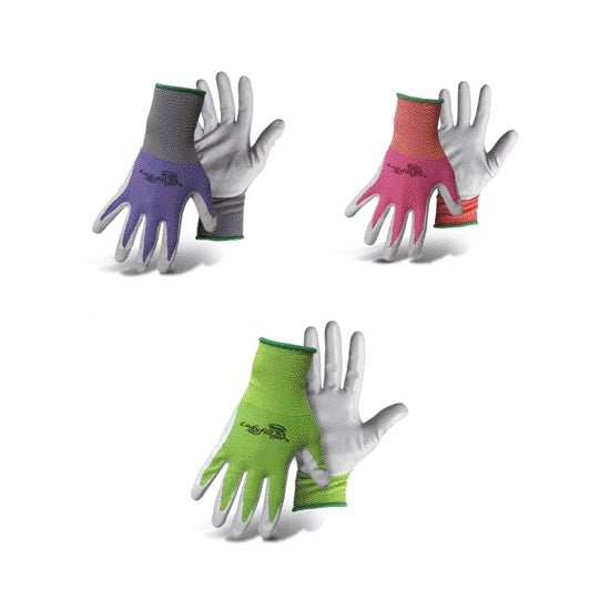 Boss 8438S Women's Ladyfinger Nitrile Palm Gloves, Assorted, Small