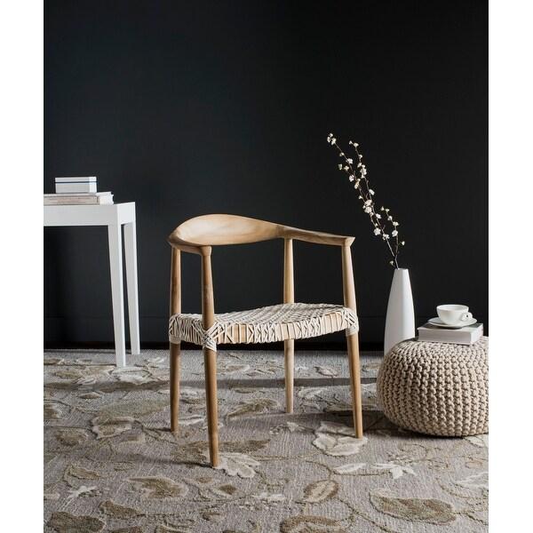 Safavieh Bandelier Light Oak Arm Chair. Opens flyout.