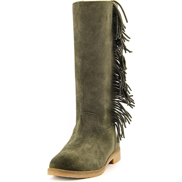 Lucky Brand Grayer Women  Round Toe Suede  Mid Calf Boot