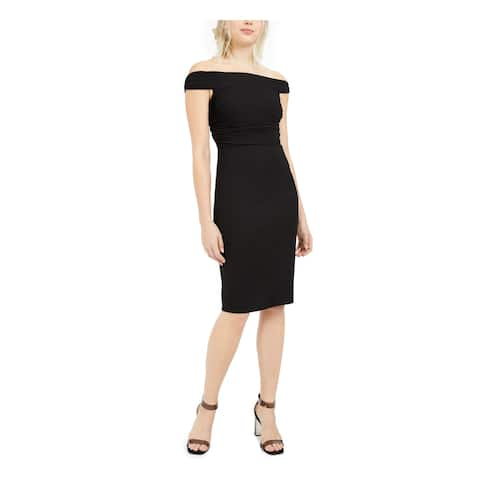 TRINA TURK Black Knee Length Dress 2