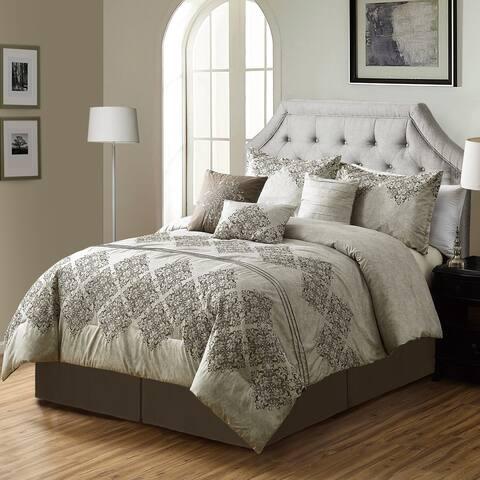Porch & Den Mcarthur Microfiber 7-piece Comforter Set