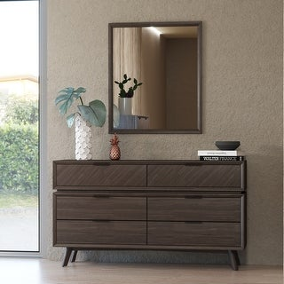 Link to Modrest Roger Mid-century Acacia Dresser Similar Items in Dressers & Chests