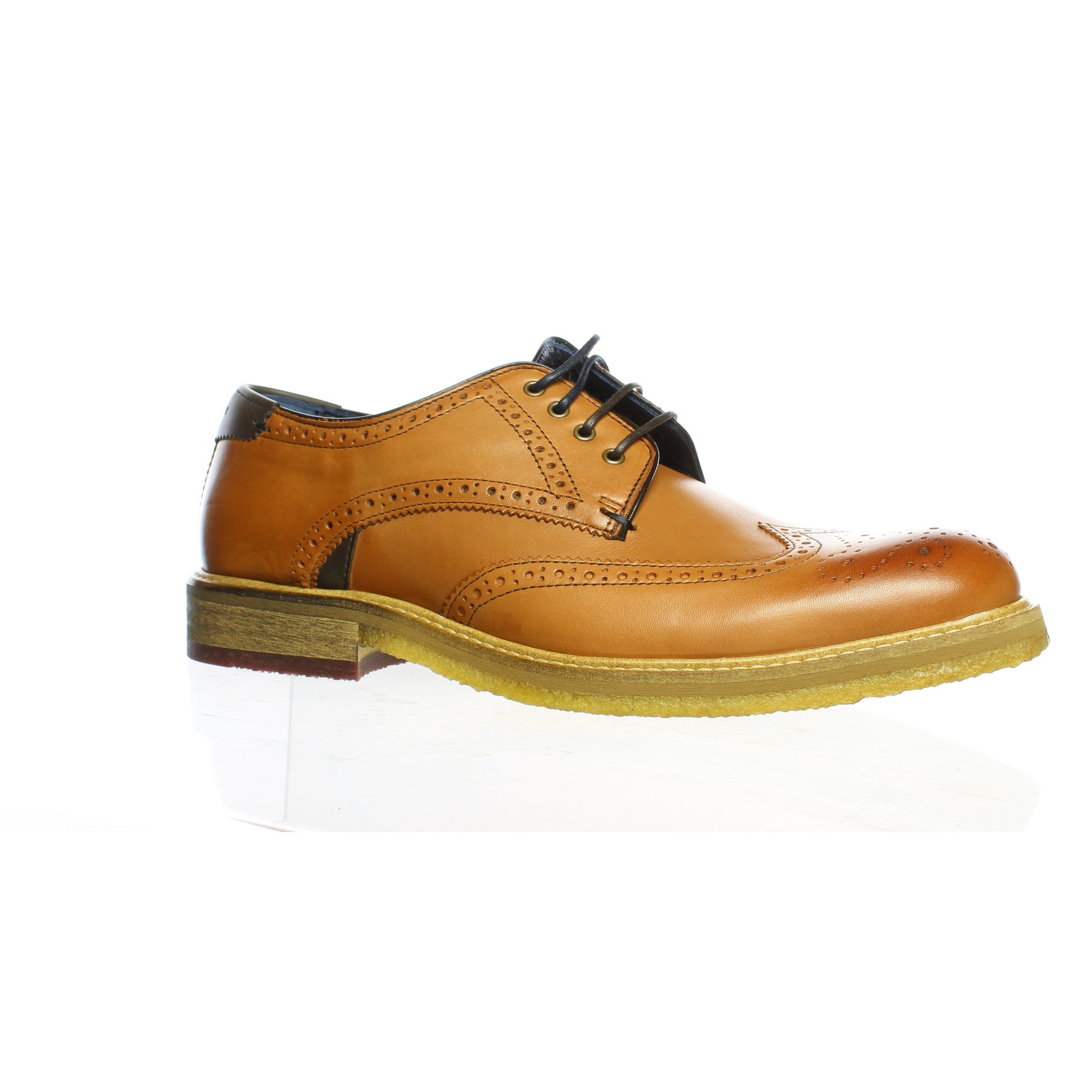 good quality on feet at official store Shop Ted Baker Mens Prycce Tan Wing Tips Size 10 - On Sale - Free ...
