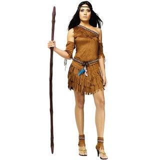 Fun World Pow Wow Adult Costume - Brown
