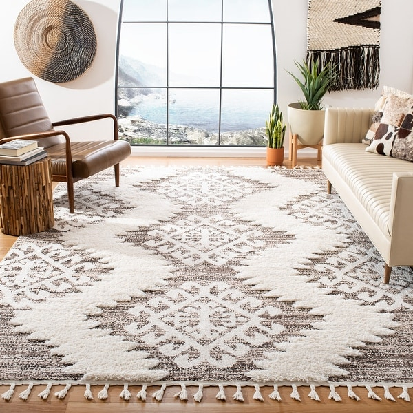 Safavieh Moroccan Tassel Shag Iulieana 2-inch Thick Rug. Opens flyout.