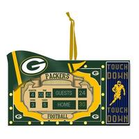 Team Sports America Polystone Green Bay Packers Scoreboard Ornament
