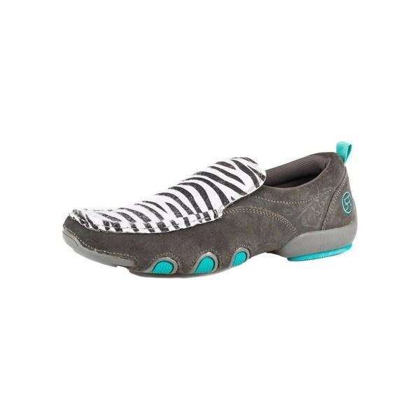 Roper Western Shoes Womens Zebra Moc Bailey