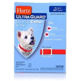 """Ultraguard Flea & Tick Dog Collar 20"""", Red 1 ea"""