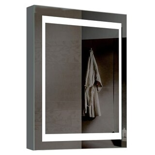 "Miseno MMC2026LED 20"" W x 26"" H Rectangular Frameless Wall Mounted Medicine Cabinet with LED Lighting"