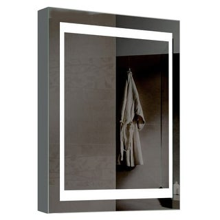 "Miseno MMC2426LED 24"" W x 26"" H Rectangular Frameless Wall Mounted Medicine Cabinet with LED Lighting"