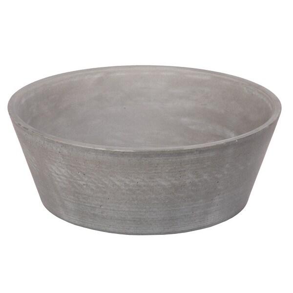 Eden Bath 16-in Concrete Round Sloped Vessel Sink - Dark Gray