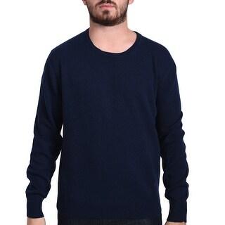 Valentino Men's Crew Neck Sweater Navy Blue