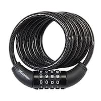 """Master Lock 8114D Combination Cable Lock, 6' x 5/16"""""""