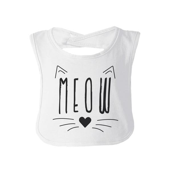 Meow Baby Burp Bib Gift White