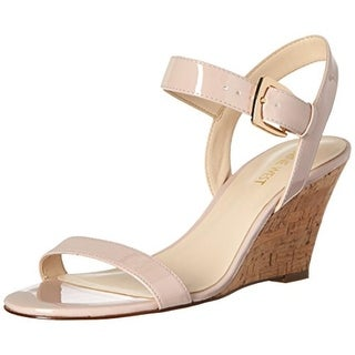 Nine West Womens Kiani Wedge Sandals Leather Cork