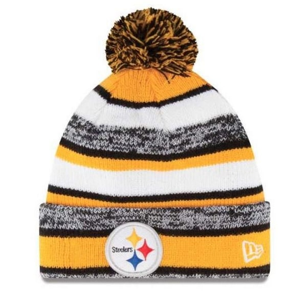 100acbf0c New Era Pittsburgh Steelers NFL Stocking Knit Hat Winter Beanie W/ Pom  11008724