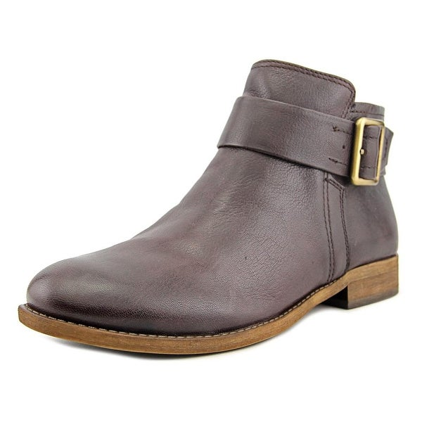 Franco Sarto Holmes Women Round Toe Leather Brown Ankle Boot