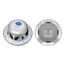 400 Watts 6.5'' 2-Way Marine Speakers (Silver Color)