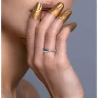 Prism Jewel 0.34 TDW Multi Color Diamond Anniversary Ring