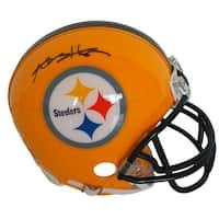 Antonio Brown Signed Pittsburgh Steelers Yellow Riddell Mini Helmet JSA