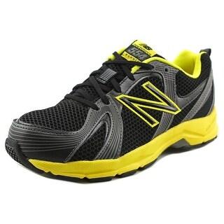 New Balance KJ554 Youth W Round Toe Synthetic Black Running Shoe