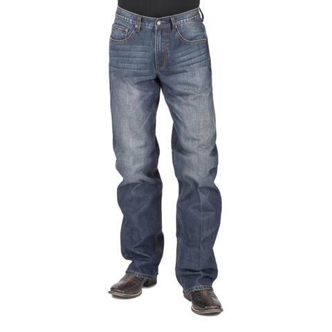 Stetson Western Jeans Men Bootcut Low Modern Blue