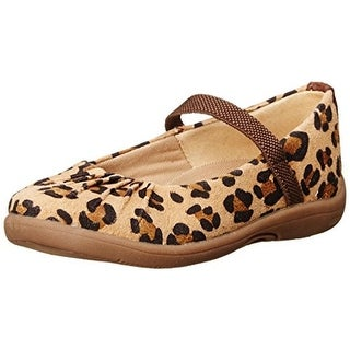 Stride Rite Girls Cassie Animal Print Leather Mary Janes